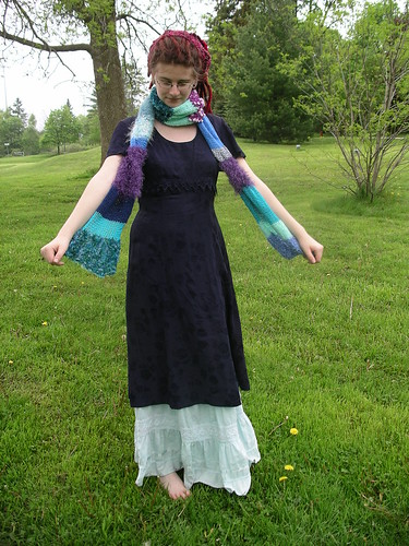Scrappy blue scarf