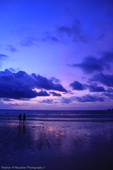 A time to remember! (Meshari Al-Rezaihan) Tags: blue sunset sea clouds canon thailand purple violet romantic dreamy meditation phuket patong patongbeach 18200mm walkingonthebeach 550d romanticmoment lovemoments reflact meshari sunsetreflect lens18200mm canon550d canoneos550d alrezaihan