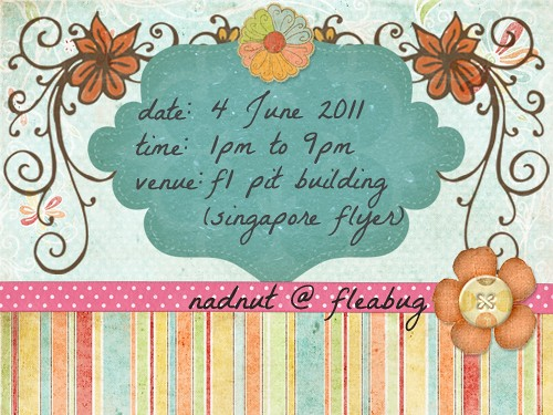 Singapore Lifestyle Blog, Flea markets, fleabug, nadnut