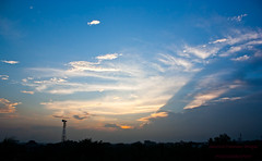 Evining Cloud (Shajal1) Tags: flowers blue trees sunset red sky cloud white black color green beautiful beauty yellow canon wonderful eos evening nice dof village shot samsung 300mm excellent lovely 18mm 75mm caonon 450d