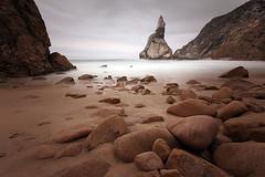a rock and a hard place (fuerst) Tags: longexposure travel sea beach portugal rock strand coast meer sintra nd fels atlanticocean reise kste atlantik praiadaursa neutraldensity graufilter canoneos60d