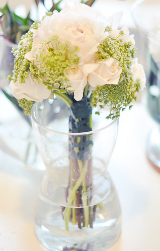 DIY White and green wedding bouquet 6