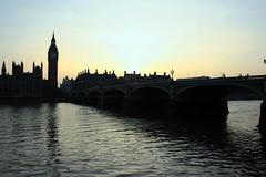 London (siebensprung) Tags: city uk greatbritain sunset england london silhouette thames river evening capital hauptstadt housesofparliament bigben westminsterbridge themse