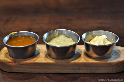 Trio of Sauces at Patriot's Tavern ~ Stillwater, MN