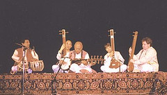 "with Pandit Swapan Chaudhuri, Maestro Ali Akbar Khansahib, Alam Khan & James Pomerantz • <a style=""font-size:0.8em;"" href=""http://www.flickr.com/photos/35985863@N07/5817218464/"" target=""_blank"">View on Flickr</a>"