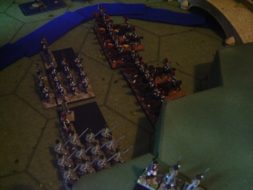 Portuguese cavalry put pressure on the French left