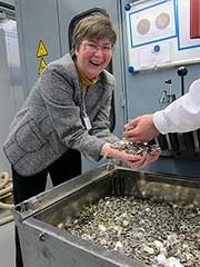 Ursula Kampmann at Stuttgart Mint