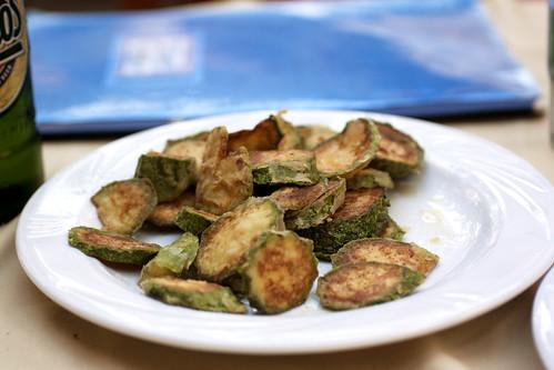 fried squash @ geros tou moria
