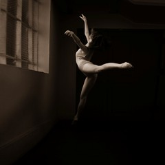 leaping before a shut window (Elf-Y) Tags: canon ir dance infrared 5d duotone leap
