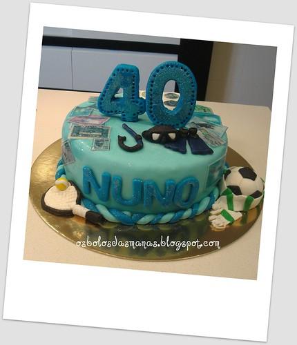 Bolo 40 Anos Nuno by Osbolosdasmanas