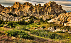 The Badlands (Jeff Clow) Tags: southdakota thebadlands badlandsnationalpark landscape rugged mountains imposing impressive otherwordly