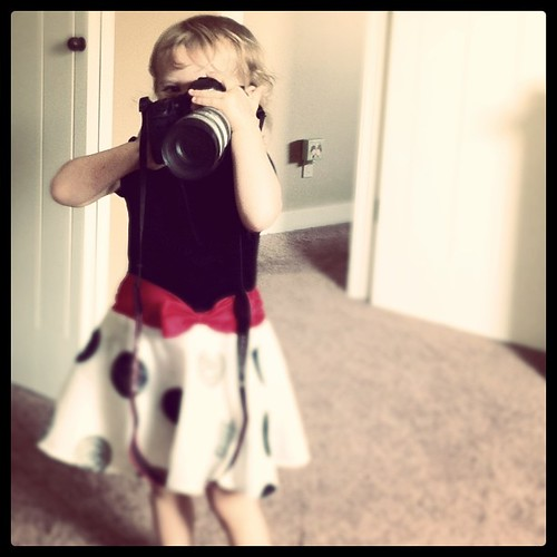 My budding photographer by Jennifer J