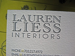 Lauren Liess Interiors Business Cards