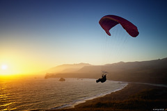 Final Approach (Jay Tankersley Photography) Tags: ocean california sunset sea beach photography coast jay state pacific sonoma paragliding gliding glider paraglider hang tankersley