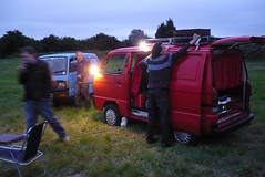 Night beckons, the music is being prepared (duncanamps) Tags: bedford wiltshire calne bedfordrascal rascalenthusiasts 201106calne
