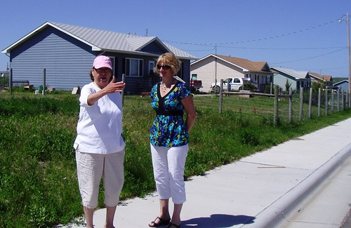 "Homeownership in Indian Country:  Pictured in the attached from left to right is Emma "" Pinky""  Iron Plume-Clifford, Executive Director for Oglala Sioux Tribe Partnership for Housing and USDA Rural Development Specialist Ruth O'Neill."