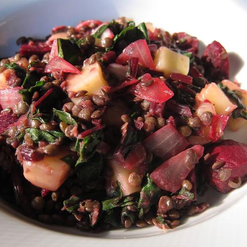 Warm Beet & Lentil Salad