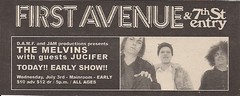 07/03/02 The Melvins/Jucifer @ First Avenue, Minneapolis, MN (Ad 2)