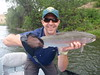 Alex enjoys a fine spring adult Klamath River Steelhead on a Salmonfly Dry!
