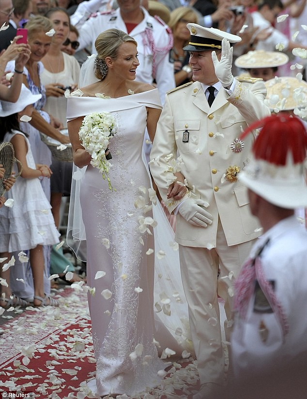 The Princess bride  Monaco  Charlene and Prince Albert ceremony The Princess bride  Monaco  Charlene and Prince Albert ceremony  10