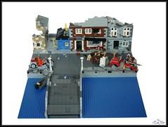 ww2 lego Cherbourg (=DoNe=) Tags: world city bridge 2 town war lego wwii firetruck homemade ww2 custom done tanks kubelwagen 10197 brickarms cherbourge bombd brickmania