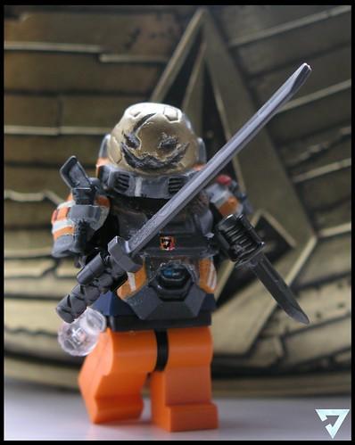 Custom minifig Katana Spartan