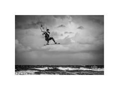Cloud Busting.... (silver/halide) Tags: cloudbusting kitesurfing weather westcornwall gwithian stivesbay atlantic atlanticocean ocean extremesports windsurf wind d750 johnbaker clouds katebush waves mono monochrome blackandwhite bw mexicobay uptontowens