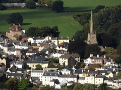 Monmouth from The Kymin, Monmouthshire, 22 September 2016 (AndrewDixon2812) Tags: kymin monmouth monmouthshire priory church spire steeple trefynwy wales stmary stmarys