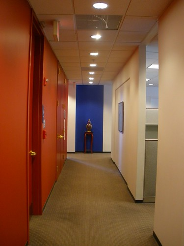 blue vase hallway