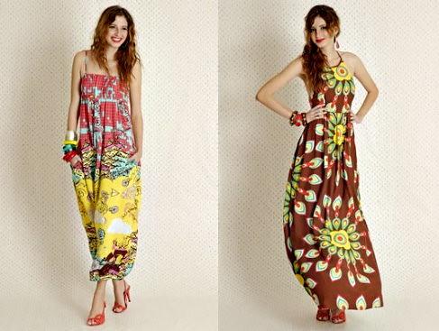vestido longo floral 2011