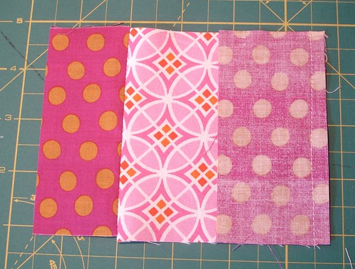 Altered Four Square Quilt Block Tutorial: Sewing the Middle Pair