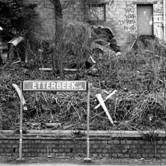"'Welcome to Etterbeek."" - Brussels, Belgium 2011 (Ronald's Photo Factory) Tags: brussels bw 120 6x6 ronald photography garbage mess belgium kodak bruxelles hasselblad carl waste brussel tmax100 500cm sonnar carlzeiss giebel etterbeek 4150 rolfilm ronaldgiebel"