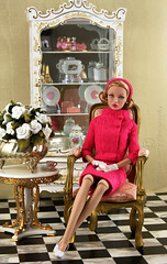 She's Arrived Poppy channels Grace Kelly 1[Explored] (think_pink1265) Tags: dollphotography dolldiorama poppyparker 16bespaq shesarrivedpoppyparker