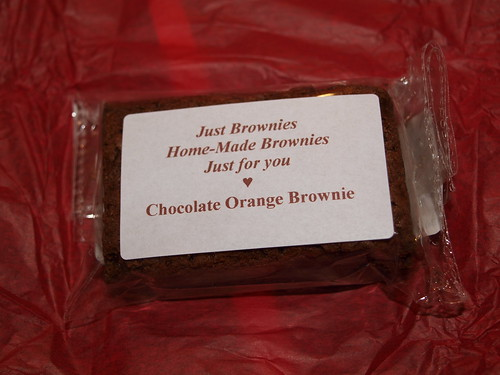 Just Brownies Valencia Chocolate Orange Brownie