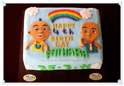 Upin-Ipin Birthday Cake