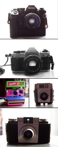 thrifted cameras!