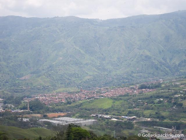 View of Girardota from nearby Copacabana