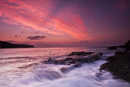 [フリー画像] 自然・風景, 海, 海岸, 夕日・夕焼け・日没, 201104041900
