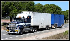 Territory Removals (Tom O'Connor.) Tags: road train truck canon lens eos one highway nt south north under twin cruising australia down double stuart national land trucks kit sa titan northern mack picnik trucking removals territory truckers lochiel 2011 1000d