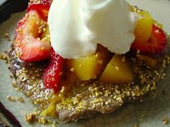 fruit syrup pancake yogurt applesauce chiaseeds hempmeal