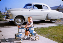 Cousin Wendell - Summer 1956 (KurtClark) Tags: chevrolet alaska deluxe ak slide anchorage 1950s kodachrome coupe 1951 taylortot