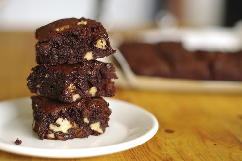 Browned Butter Cocoa Brownies with Walnuts
