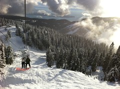 Beautiful day at Cypress (mezzoblue) Tags: winter mountain snow snowboarding cypress
