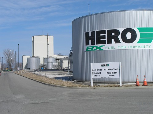 HERO BX in rural Penn., one of the five largest biofuels production facilities in the nation, produces 45 million gallons of biofuel  each year.  The plant receives support from USDA's renewable energy programs.
