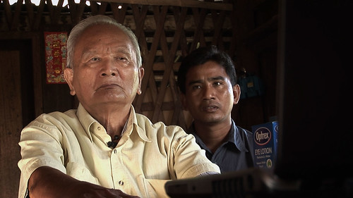 Thet Sambath (right) with Nuon Chea, aka Brother Number Two
