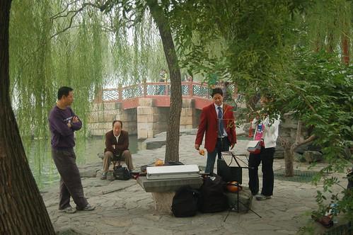 Musikunterricht am See des Sommerpalasts