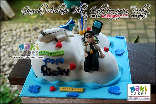 Garuda Airlines Pilot Cake for Papa Ricky - Maki Cakes