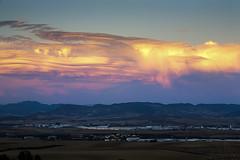 atmsfera III (www.jlosada.com and @jorge_losada on Instagram) Tags: sunset espaa landscape spain industrial paisaje puesta industria nube navarra nafarroa polgono clido jorgelosada