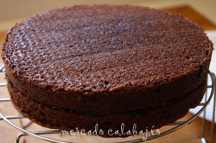 torta de chocolate simple