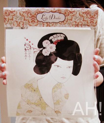 Geisha flores.
